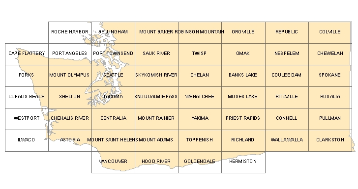 Mt St Helens Washington Map.Digital Geologic Data For Washington